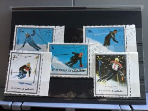 Fujeira Pro-Winter Olympic 1976 Skiing   stamps R26125