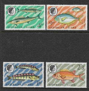 Ascension  130 - 133 (SG 126/9) Fish - MNH - VF - CV$18.50