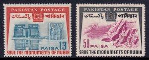 Pakistan - Scott #204-205 - MNH - SCV $2.30