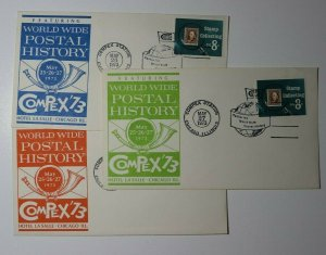 COMPEX Sta Chicago IL 1973 WW Postal History Philatelic Expo Cachet Cover