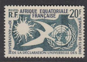 French Equatorial Africa 202 mnh