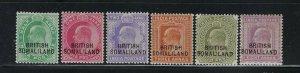 SOMALILAND PROTECTORATE SCOTT #21-26 1903  INDIA OVERPRINTS - MINT LH/HINGED