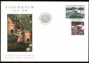 Sweden 2432-33, FDC 750th Anniversary of Stockholm (23