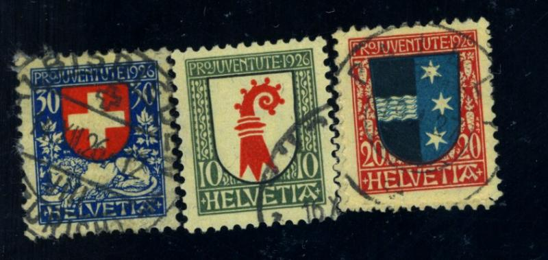 Switzerland #B36-40 Used FVF Cat$17