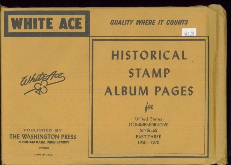 WHITE ACE Historical Album Pages US Commemorative Singles Part Three 1950-1970