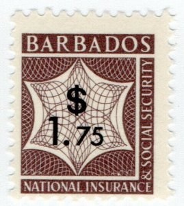 (I.B) Barbados Revenue : National Insurance & Social Security $1.75 (unlisted)