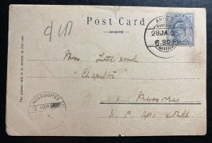 1905 Akola India Real Picture Postcard Cover To Mussorrie Aden General View