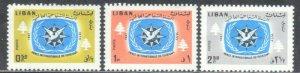 LEBANON  SC# 448-50 **MH**1967     SEE SCAN