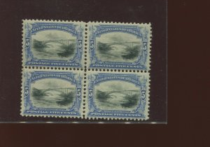 Scott 297 Pan-American Mint Block of 4 Stamps (Stock 297-B1)  2 Stamps NH!!!