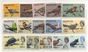 Mauritius 306-20 Set  Mint Never Hinged