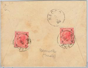 62403 -  AUSTIA - POSTAL HISTORY -  COVER from BRUNECK to SACCO Italy 1893