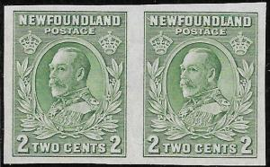 Newfoundland Scott Number 186c Imperf Pair VF NG