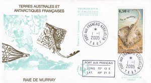 2005, T.A.A.F., Raie De Murray, FDC (E11726)