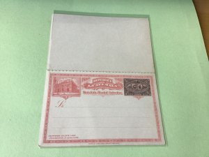 Guatemala early unused stamped stationary reply Postal postcard Ref R22423