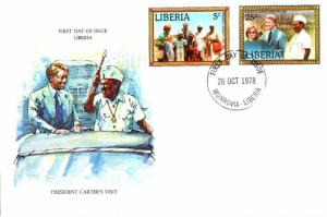 Jimmy Carter Liberia FDC