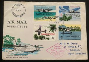 1970 Asau Western Samoa First Day Cover FDC To Dunedin New Zealand Airmail Defin