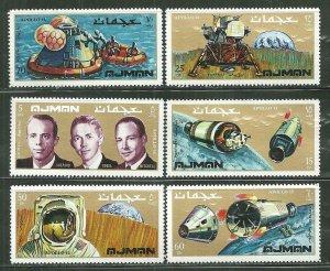 Ajman MNH Set Of 6 Apollo 14 Space