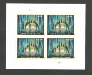 5430 Grand Island Ice Caves US Express Mail Plate Block Mint/nh FREE SHIPPING
