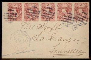 Guatemala 1902 Izabal La Grange Tennessee USA Cover 92808