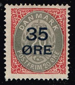 DENMARK STAMP 1912 Surcharged Stamp MH/OG