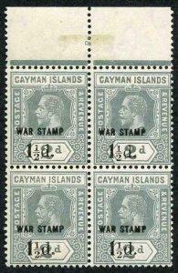Cayman Is SG58 1 1/2d on 2d Grey Variety Broken 1 in fraction U/M