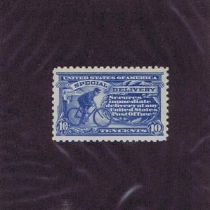 SC# E9 ORIGINAL GUM MNH 10c SPECIAL DELIVERY BICYCLE, 1914, PSAG CERT, VF