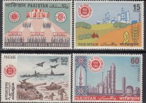 Pakistan, Sc 261-264, MNH, 1968, Decade of Development