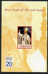 Turkmenistan 1999 Great People of the 20th Century (Pope)...