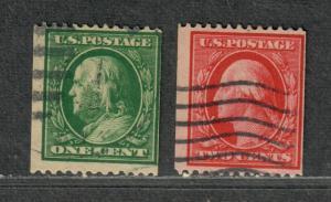US Sc#348+349 Used/F, Cv. $205