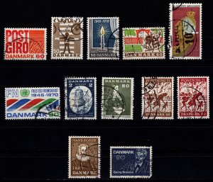 Denmark 1970-71 Commemoratives, Complete Sets [Used]