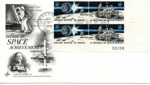 US FDC #1435b Space Plate Block, ArtCraft (7961)