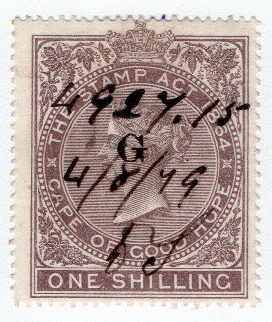 (I.B) Griqualand West Revenue : Duty Stamp 1/-