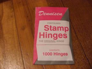 DENNISEN Prefolded Stamp-HINGES-Pack-of-1000