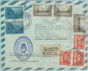 85962 - ARGENTINA - Postal History - OFFICIAL STAMPS on COVER to ITALY 1962 wine