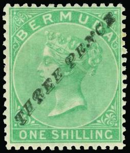 Bermuda Scott 12a Gibbons 13b Mint Stamp