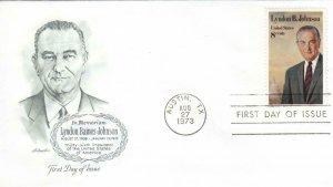 1973, In Memoriam Lyndon Baines Johnson, Artmaster, FDC (D14338)