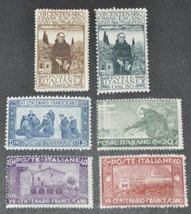 DYNAMITE Stamps: Italy Scott #178-183 – MNH