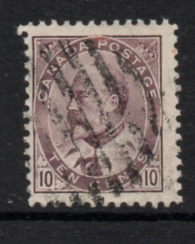 Canada Sc 92 1903 10c brown lilac Edward VIIl stamp used