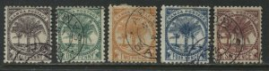 Samoa 1886-95 various values to 6d used