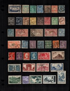 France  37  different mint hinged and used cat $51.00