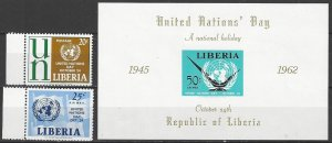 Liberia  403, C144-5   MNH  United Nations Day