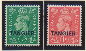 Great Britain, Offices In Morocco/Tangier Stamps Scott #521 To 522, Mint Hing...