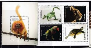 Palau 2017 wild fauna frogs parrots turtles national geographic klb+s/s MNH