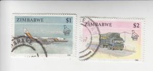 Zimbabwe 630, 631 used