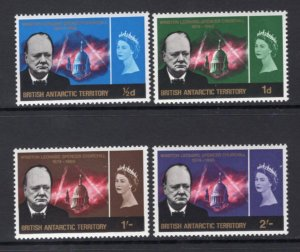 British Antarctic Territory 1966 Churchill Set of 4 MH