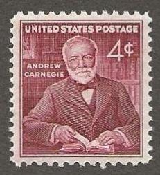 US#1171 1960 4c Andrew Carnegie, XF+ MNH * #S13