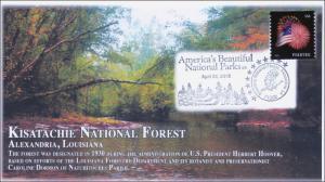 2015, Kisatachie National Forest, Pictorial Cancel, Parks, 15-106
