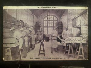 1908 Battersea England RPPC Postcard cover The Bakery Stepney To Newcastle