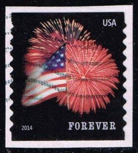 US #4854 Fort McHenry Flag and Fireworks; used (0.25)