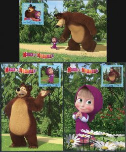 Russia. 2019. Cartoon Masha and the Bear. Barnaul (Mint) Set